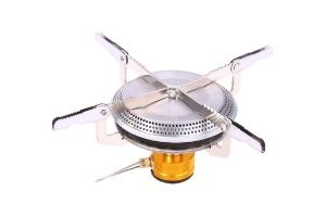 ADD GEAR Portable Camping Gas Stove for Butane Stainless Steel