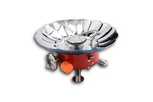 Divinext Ultra-light Small Volume Round Folding Camping Butane Gas Stove Burner with Storage Bag