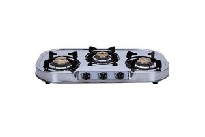 Elica 3 Burner Stainless Steel Gas Stove