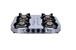 Elica 4 Burner Stainless Steel Gas Stove