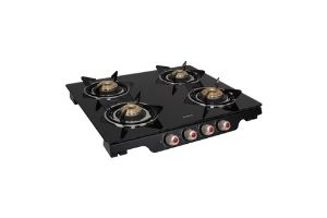 Elica Glass 4 Burner Auto Ignition Gas Stove