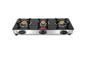 Pigeon by Stovekraft Favourite Glass Top 3 Burner Gas Stove