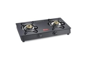 Prestige Marvel Plus Glass, Stainless Steel Manual Gas Stove (2 Burners)
