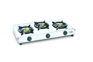 Prestige Perfect Stainless steel 3 Burner Gas Stove