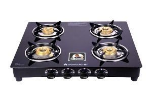 Wonderchef Power 4 Burner Glass Gas Stove