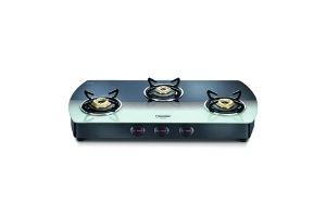 Prestige Premia Glass Manual Gas Stove (3 Burners)