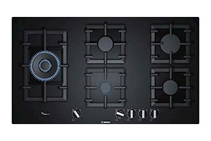 Bosch Hob Glass Top 5 Burner Gas Stove, Auto Ignition, Black