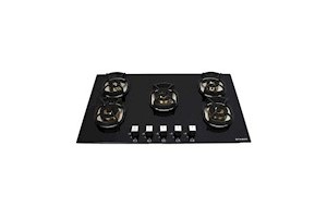Faber 5 Brass Burner Hob Cooktop Hybrids in Built Auto Electric Ignition