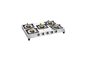 Sunblaze Ikon Slim White Glass Top 5 Forged Brass Burner