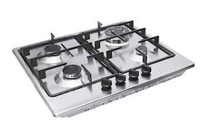 Bosch Built in Gas Hob Stainless Steel 4 Burner Silver