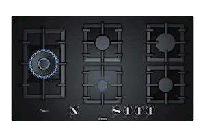 Bosch Serie | 6 90 cm 5 Burners Black Glass Gas Hob