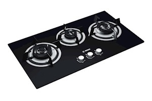 Bosch Tempered Glass Top 3 Burner Gas Stove